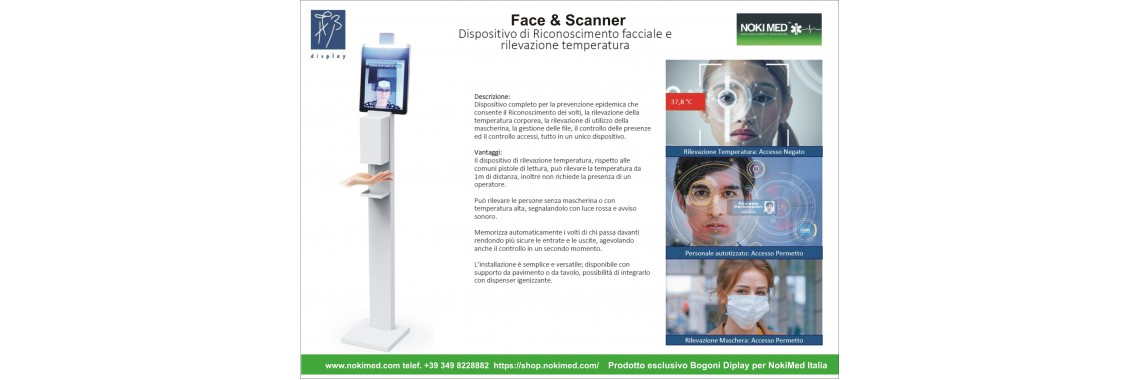 facial recognition thermoscanner